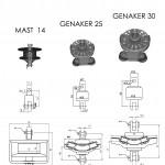 Закрутка стакселя без штагпирса MAST 14 / Закрутки генакера G25 и G30